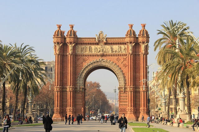 L'arc de triomphe de Barcelone, Espagne