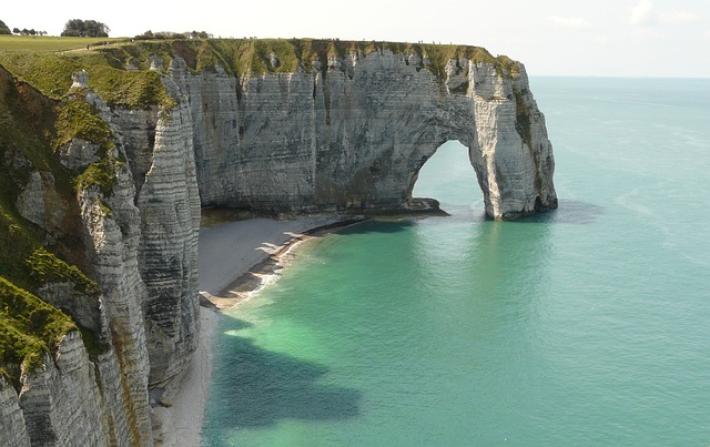 Normandia, scogliere a Etretat