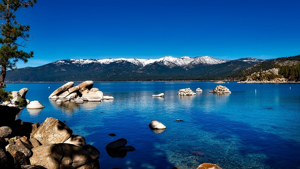Lake Tahoe, Sierra Nevada, between California and Nevada